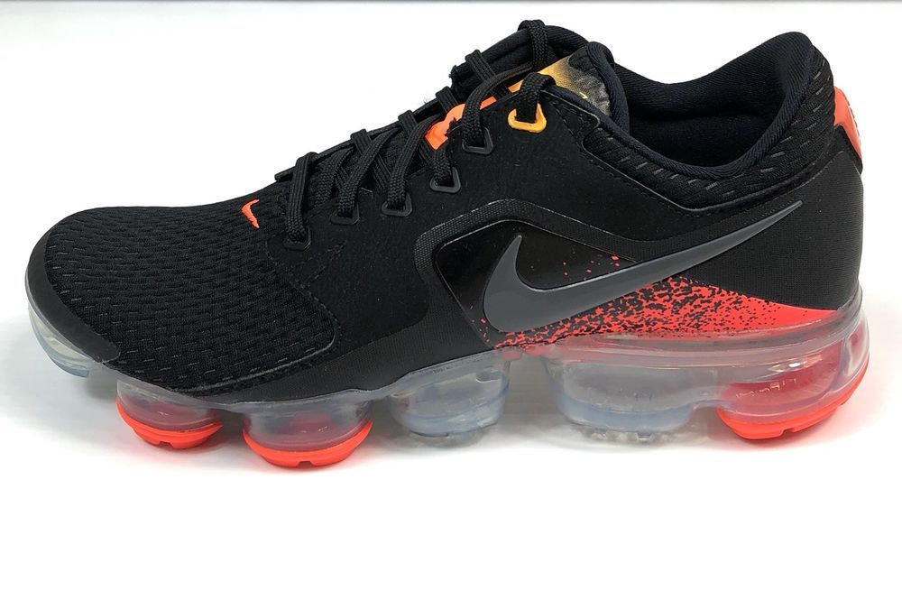 a1ba6e0266d Nike Air Vapormax GS Size 6.5y Youth Black Dark Grey Orange 917963-009  155