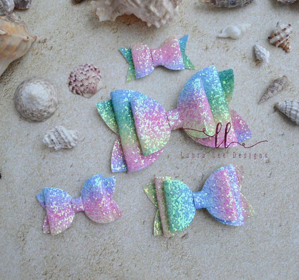 "Handmade frosted glitter 2.5/"" girls hair clip choice of 3 colours"