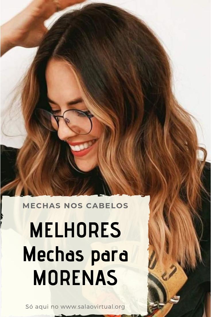 40+ Mechas para Morenas - MELHORES Tonalidades! #cabelos