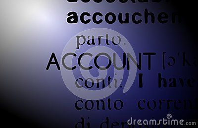 Image representing the word account on an abstract background.
