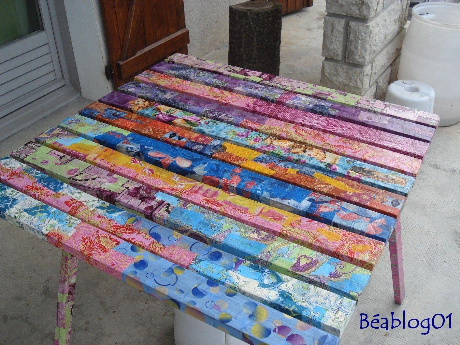 Decopatch garden table