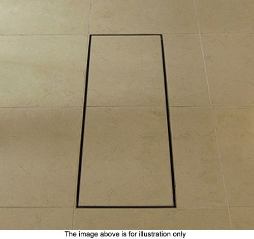 Stainless Steel Wetroom Tile Gully With Side Outlet. 150mm. additional image