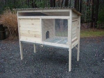 How to build a wooden rabbit hutch 10 plans yard and for Wooden rabbit hutch plans