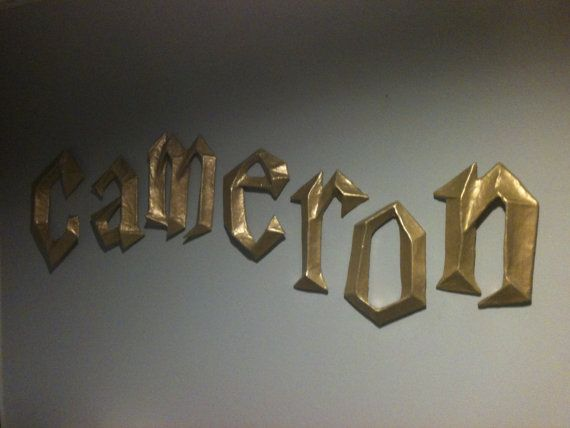 $10 Harry Potter 3D wall letters! o-o