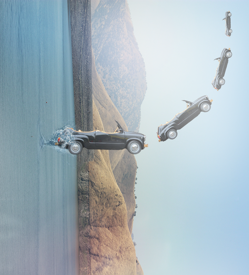 mowr-blog:Drive thru and up  A surrealistic creation. It's simple, but I hope you like it :)