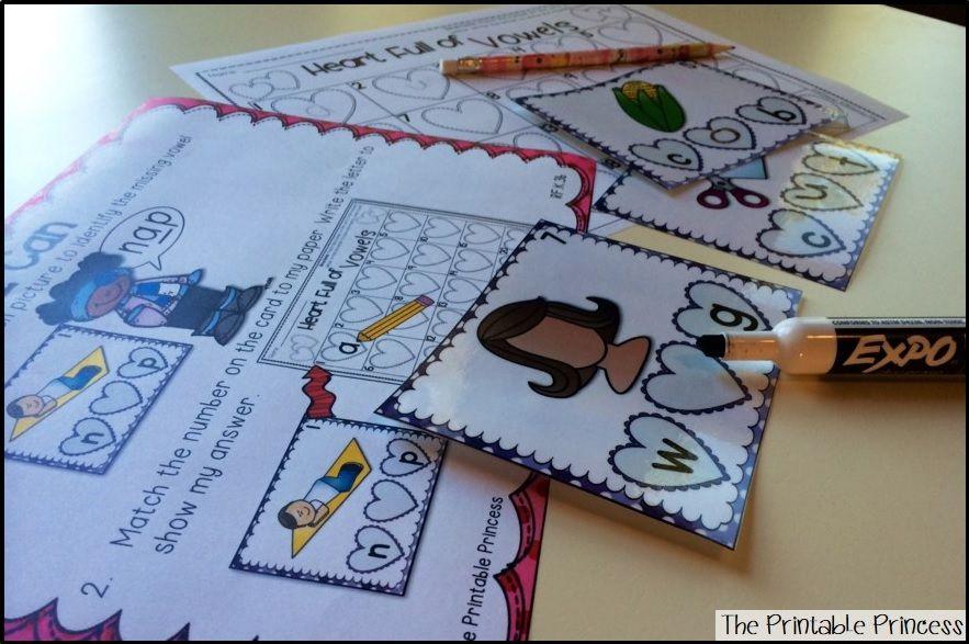 Kindergarten Centers Groundhog Day, Valentine's Day, and