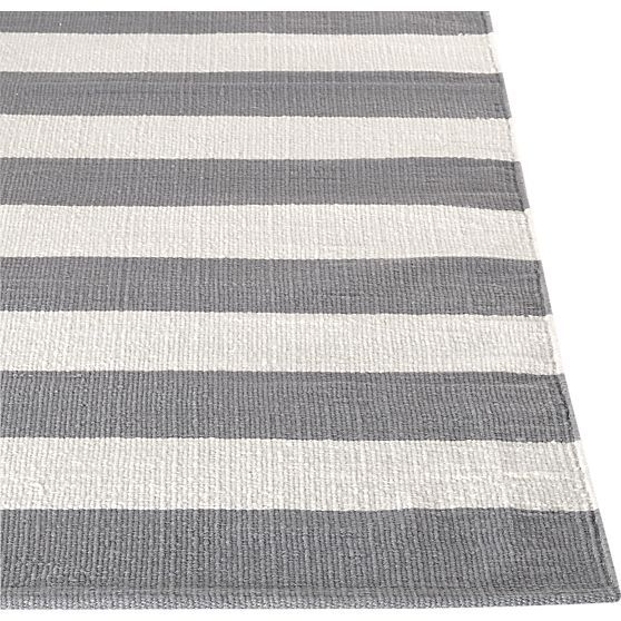 Olin Grey 8 X10 Rug In Area Rugs Crate And Barrel Flat