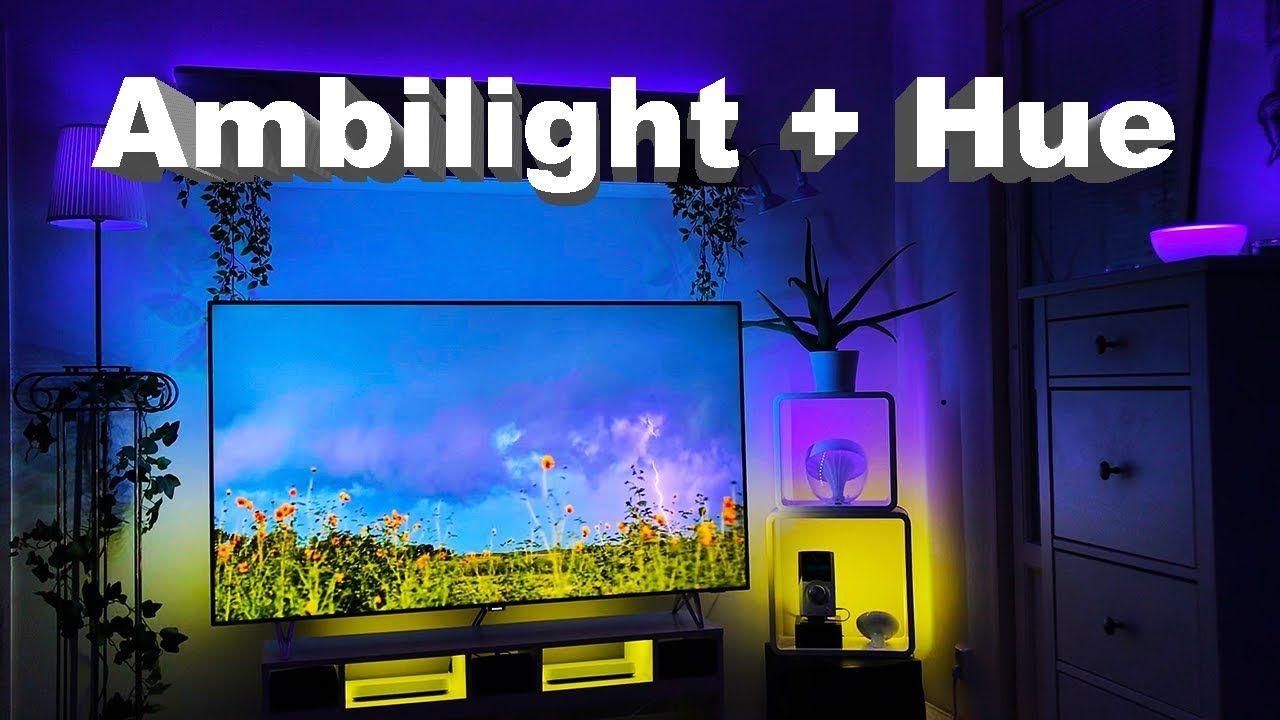 Philips Ambilight Hue 4k Thunder Storm Video Set Up Youtube Phillips Hue Lighting Hue Lights Video Setting