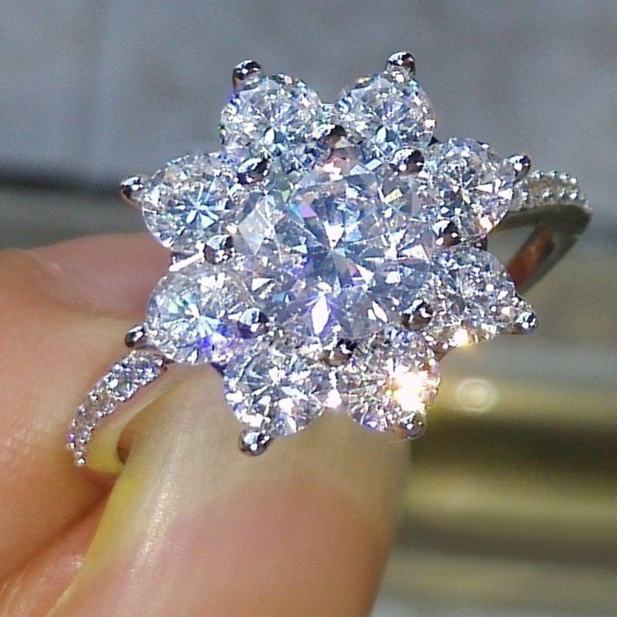 Awesome Engagement Bridal Ring Round Brilliant Diamond