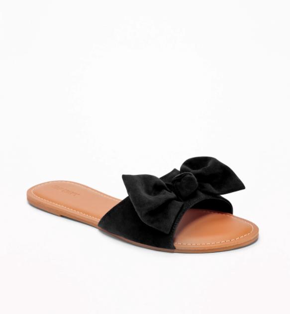 fbc9022deee2 Black Bow Tie Sandals