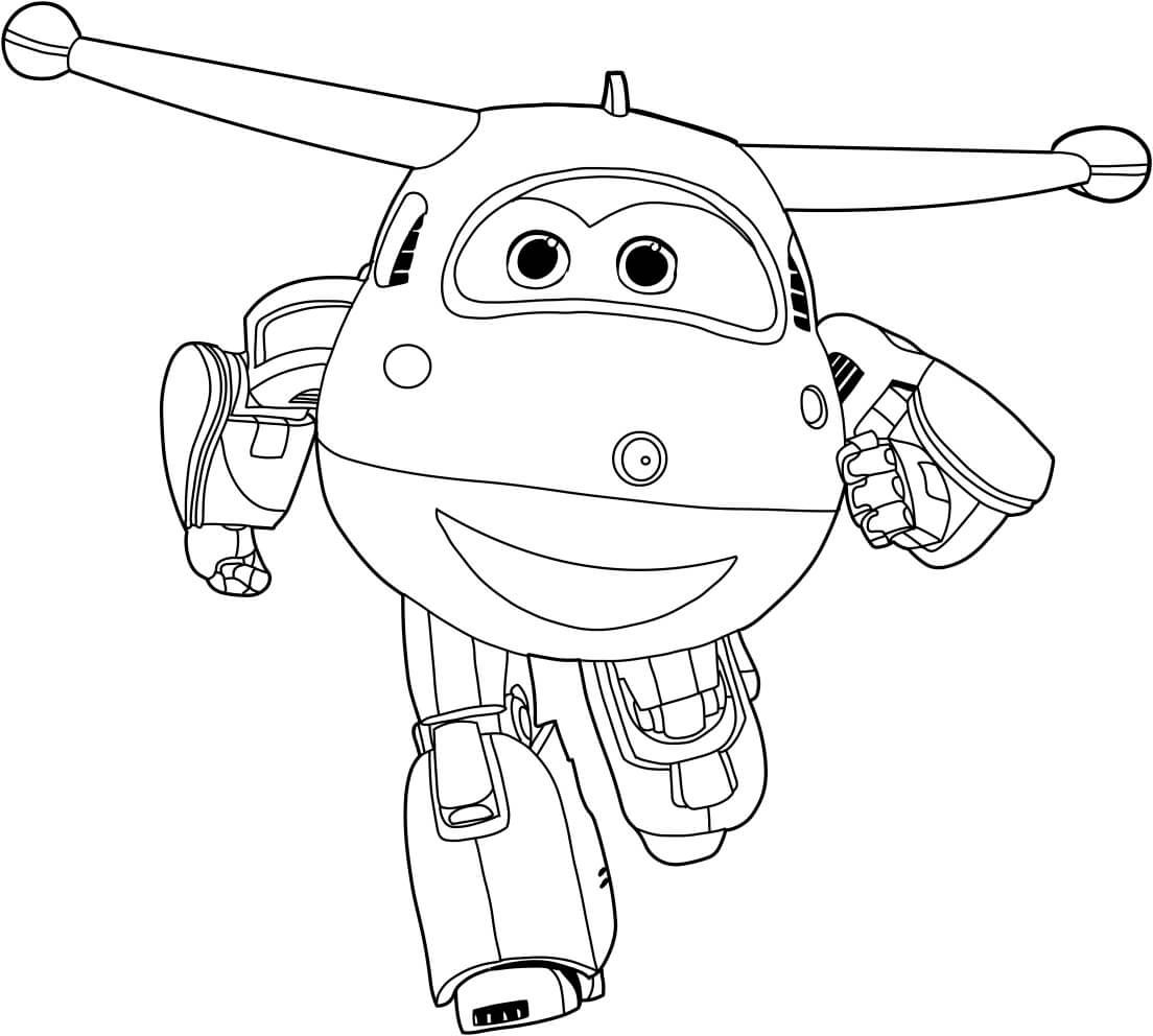 Jett From Super Wings Coloring Sheets