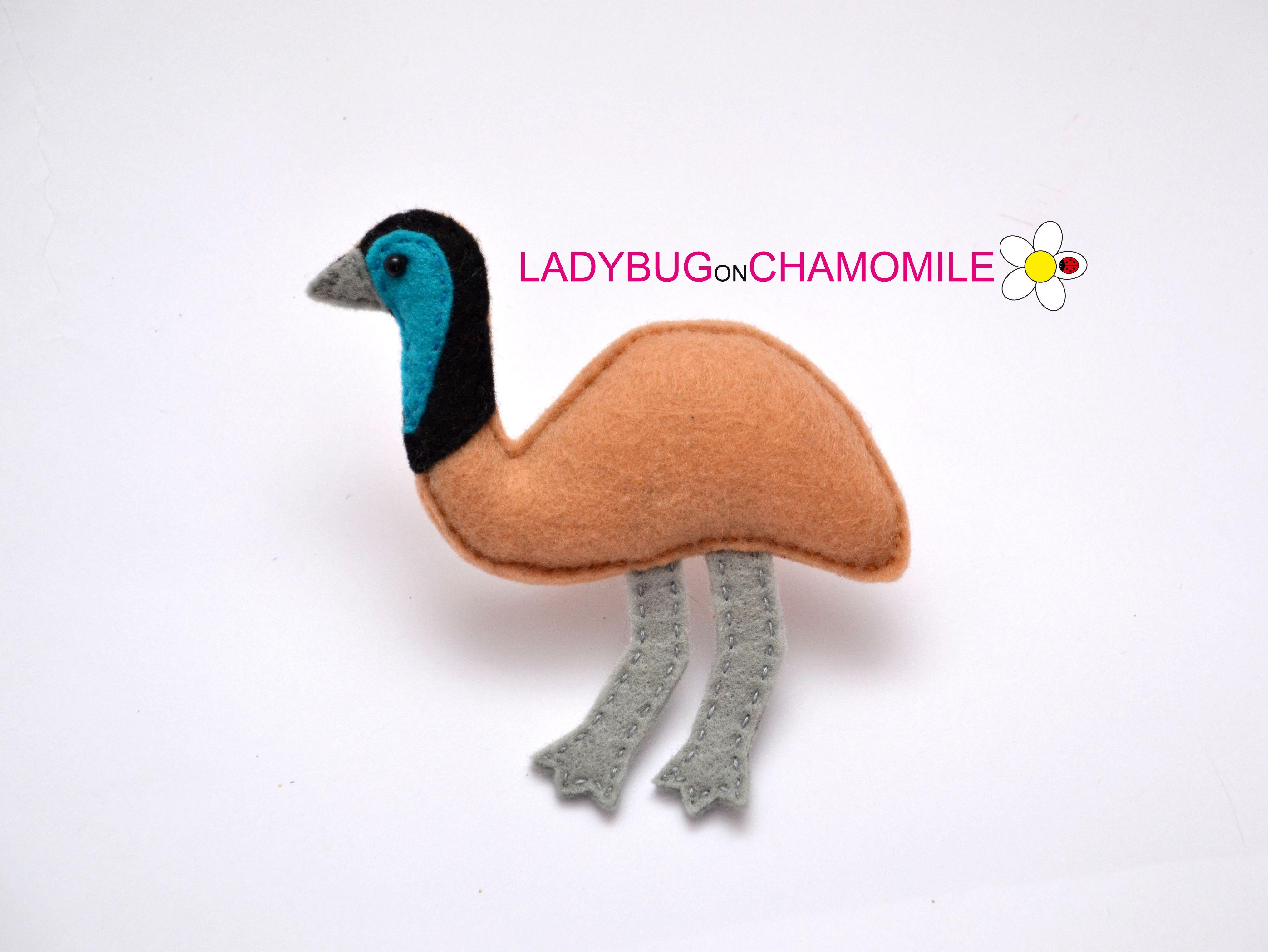Emu Mobili ~ Emu felt magnet cute emu magnets and felting