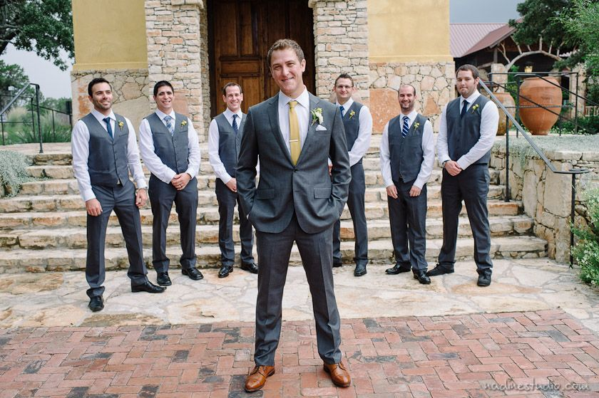 Casual Royal Blue And Grey Groomsmen Camp Lucy Wedding Austin Photographers