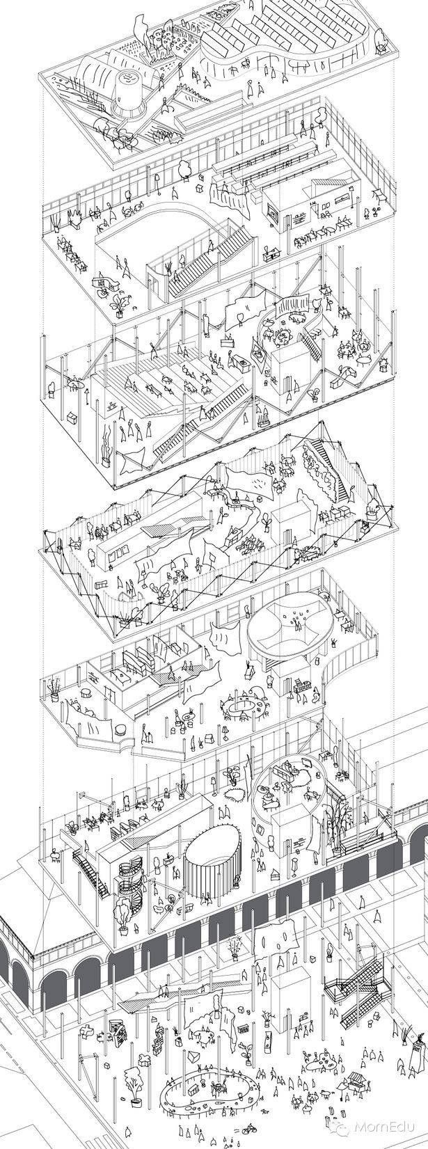 Pin By Chuhan Paris Feng On Architectural Drawings Diagram Architecture Architecture Sketchbook Architecture Illustration
