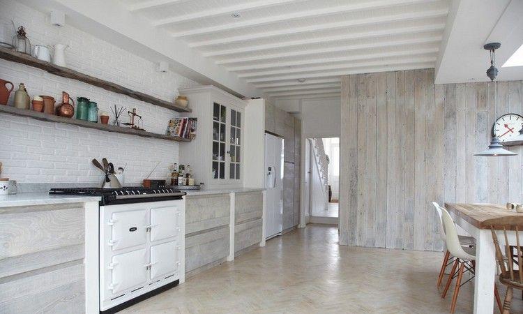 Lambris Bois Blanc Inviter Le Style Campagne Chic A La Maison