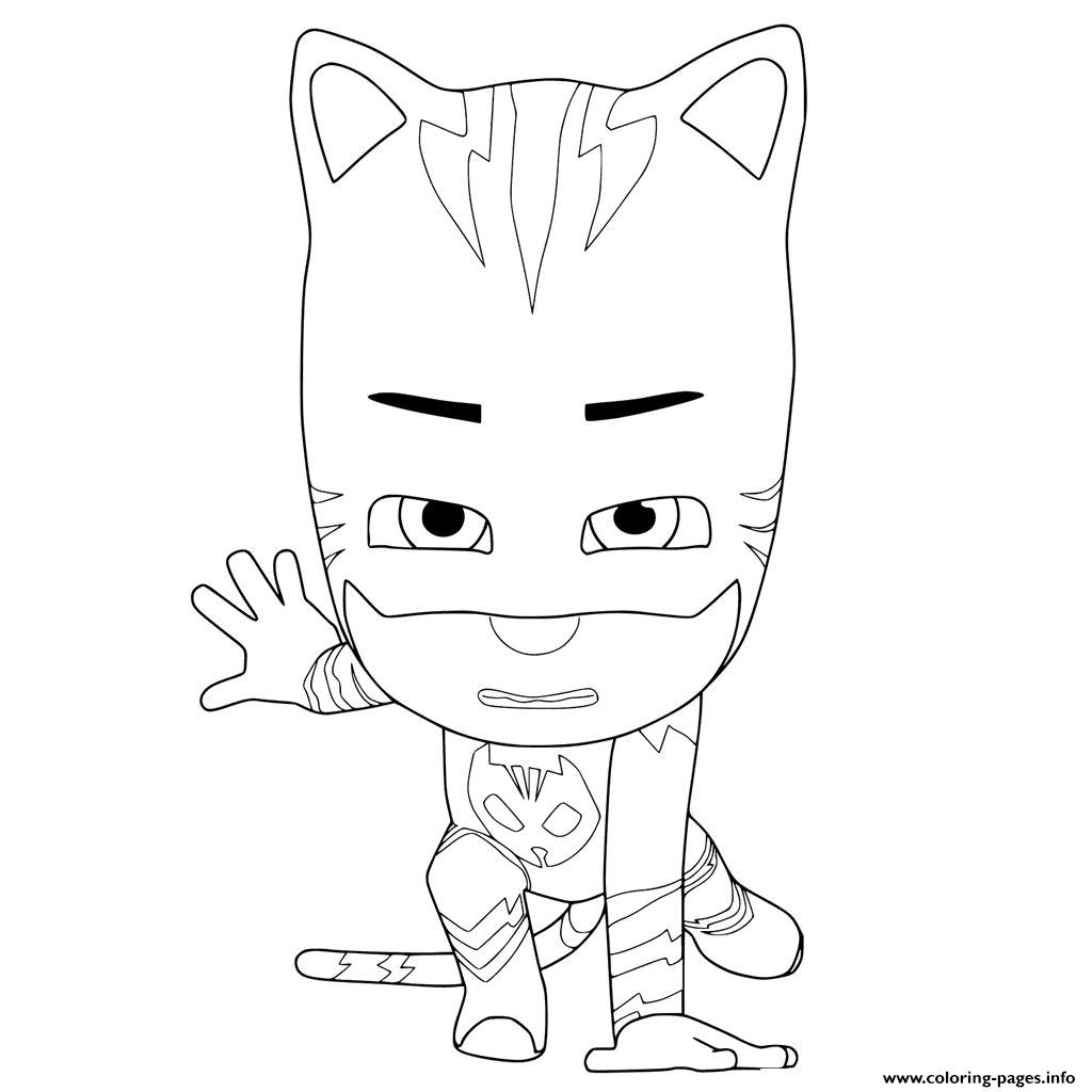 Print PJ Masks Ready To Fight Coloring Pages
