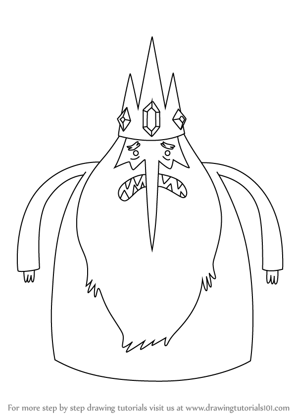 How To Draw Ice King From Adventure Time Drawingtutorials101 Com Adventure Time Coloring Pages Ice King Adventure Time Adventure Time Drawings