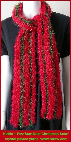 Christmas Scarf Kiddo Fizz Stardust Knit Lengthwise Free