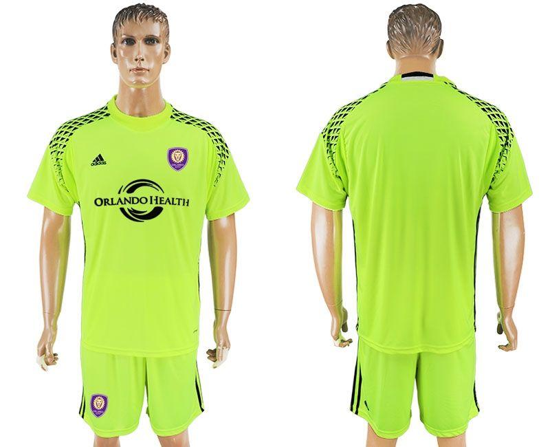 usa 23 johnson home soccer country jersey new 17 18 orlando city goalie soccer jersey fluorescent gr
