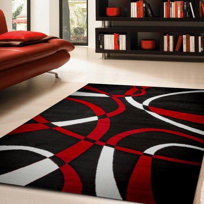 Fordbridge Hand-Knotted Red/Black Area Rug images