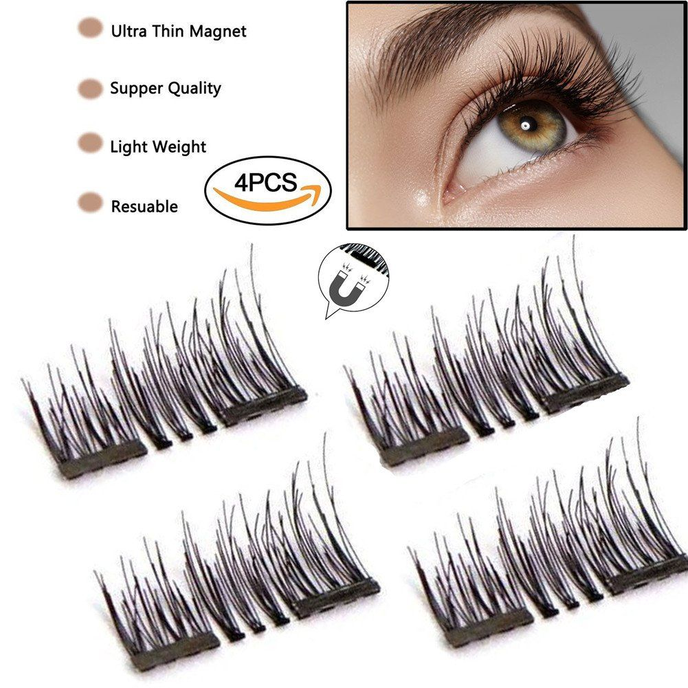 Abcdok 3d False Magnetic Eyelashes Mess Free Reusable Lashes