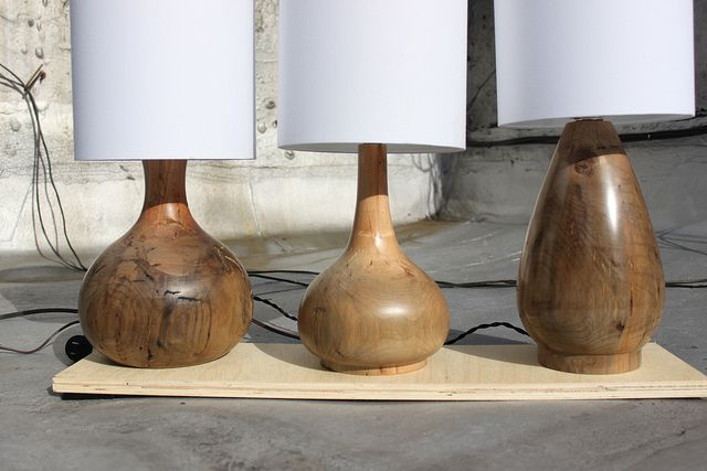 Lake Log Lamp By B Light Via Flickr Wood Lamp Base Wooden Lamp Wooden Lamp Base