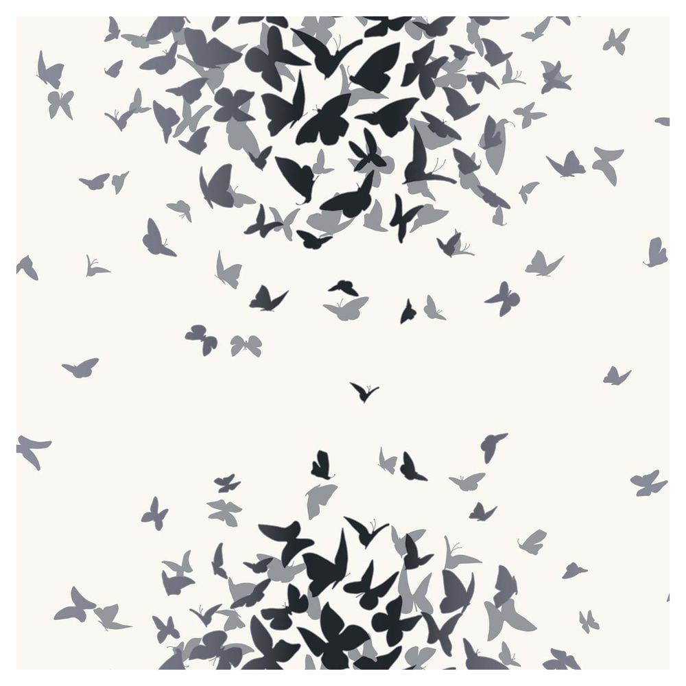 Arthouse Opera Butterfly Black White Wallpaper
