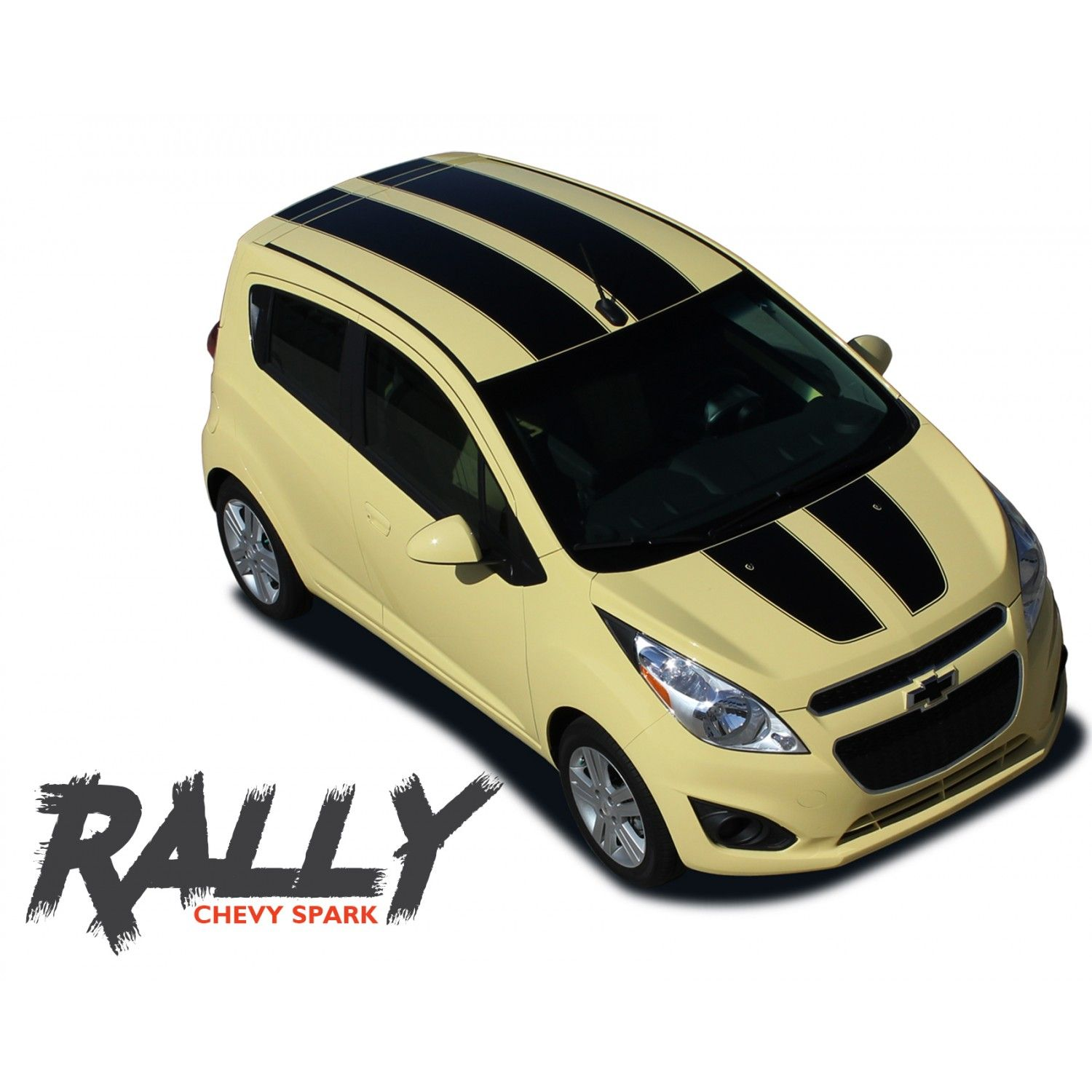 Chevy Spark Rally Hood Roof Racing Stripes Vinyl Graphics Decal