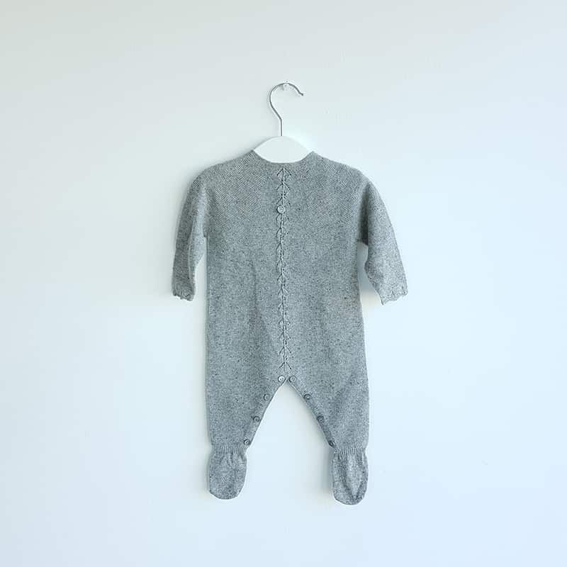 b503dc6434a3 Grey Knitted Babygrow