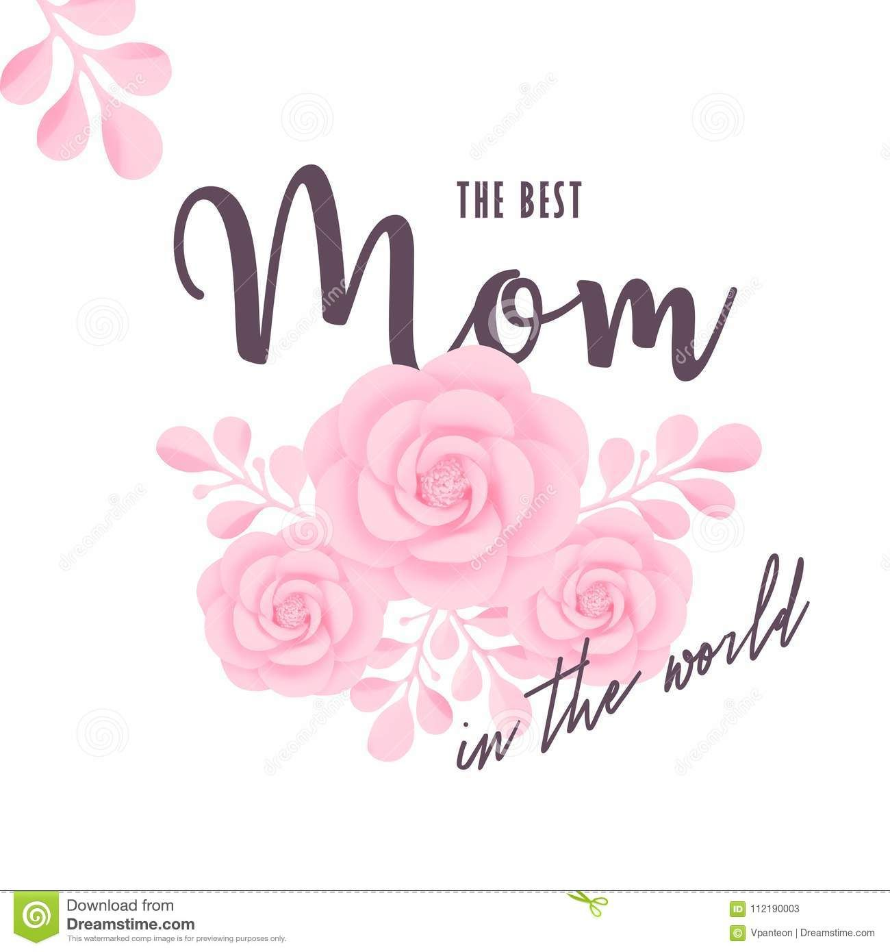 Mother S Day Greeting Card Template With Typography And In Mom Birthday Card Template Mother S Day Greeting Cards Birthday Card Template Birthday Cards For Mom