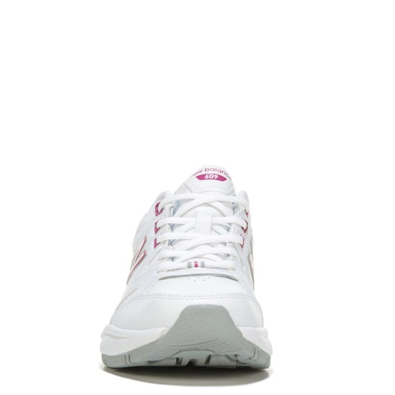 New Balance Womens 609 V2 Memory Top Wide Sneakers White