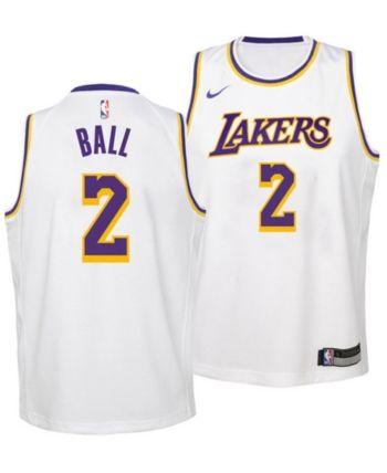 8dec0ccc Nike Lonzo Ball Los Angeles Lakers Association Swingman Jersey, Big Boys  (8-20) - White M