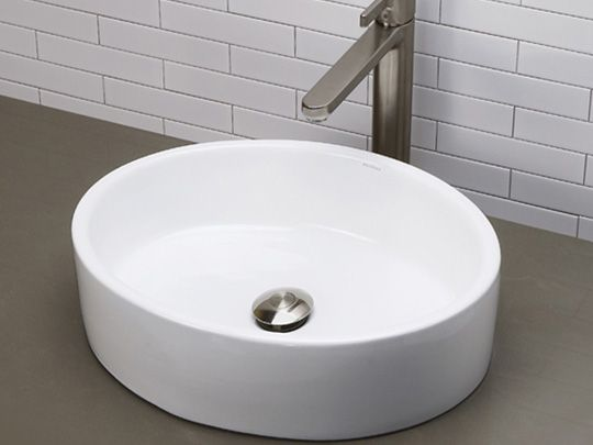 Deep Oval Vitreous China Vessel Sink Ceramic White