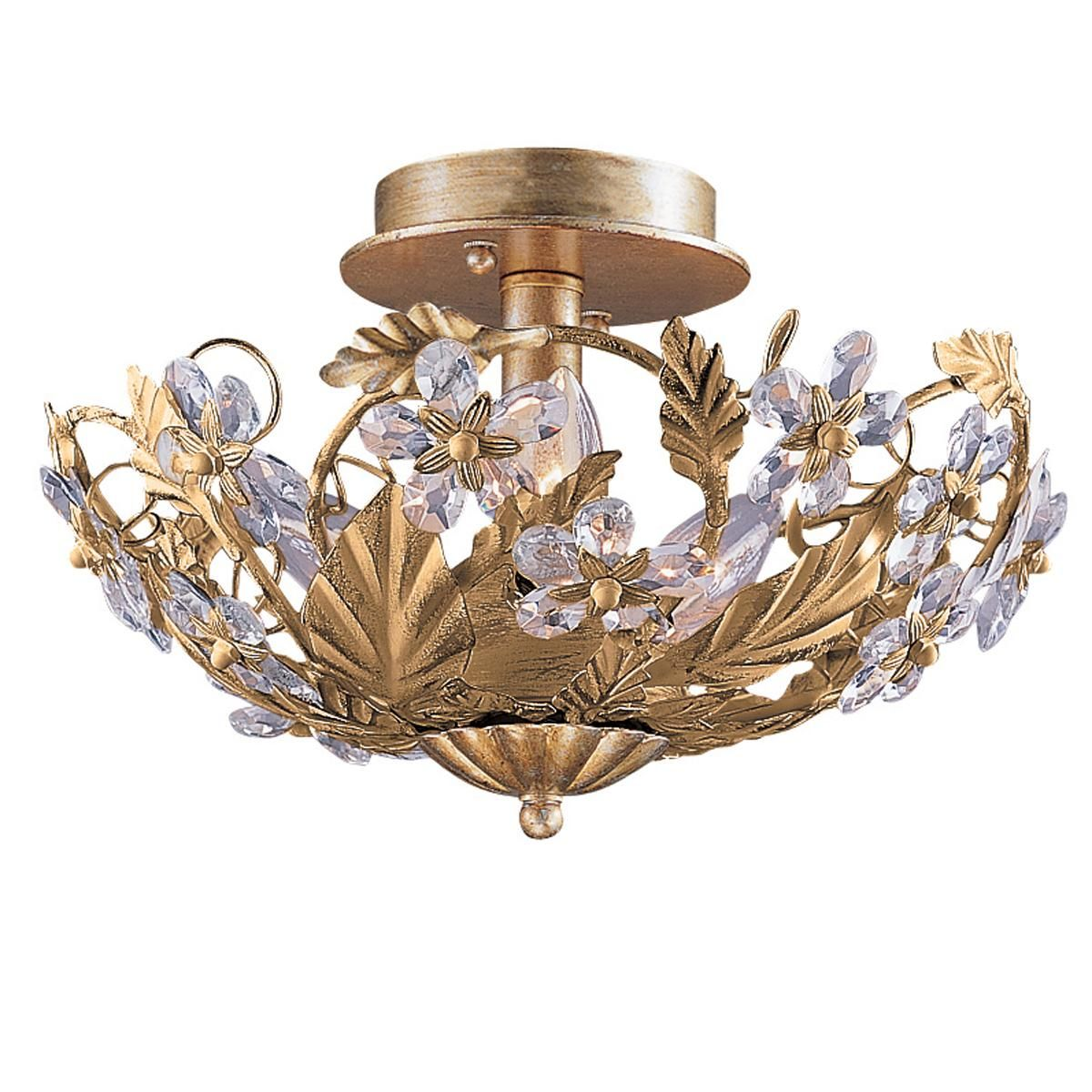 Crystal Flowers Ceiling Light