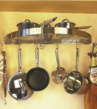 pot racks hanging wall Hanging Rack For the casa Pinterest