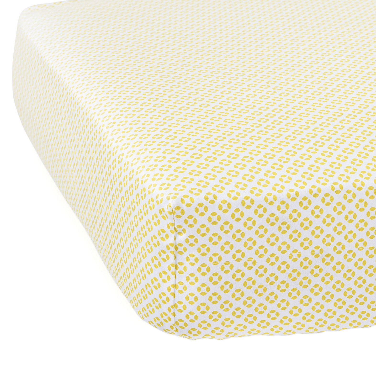Cut Circles Crib Sheet – Citrine | Serena & Lily