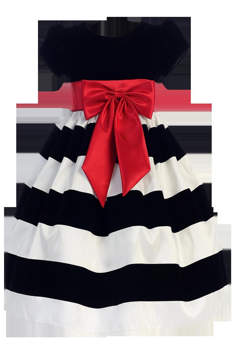 Blue christmas dress 4t - Black Velvet White Flocked Taffeta Christmas Holiday Dress W Red Sash Bow Girls 3 Months Size 10
