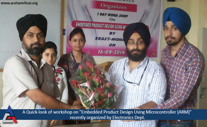 """A workshop on """"Embedded Product Design Using Microcontroller (ARM)"""" was recently organized by Electronics Dept. - ACET."""