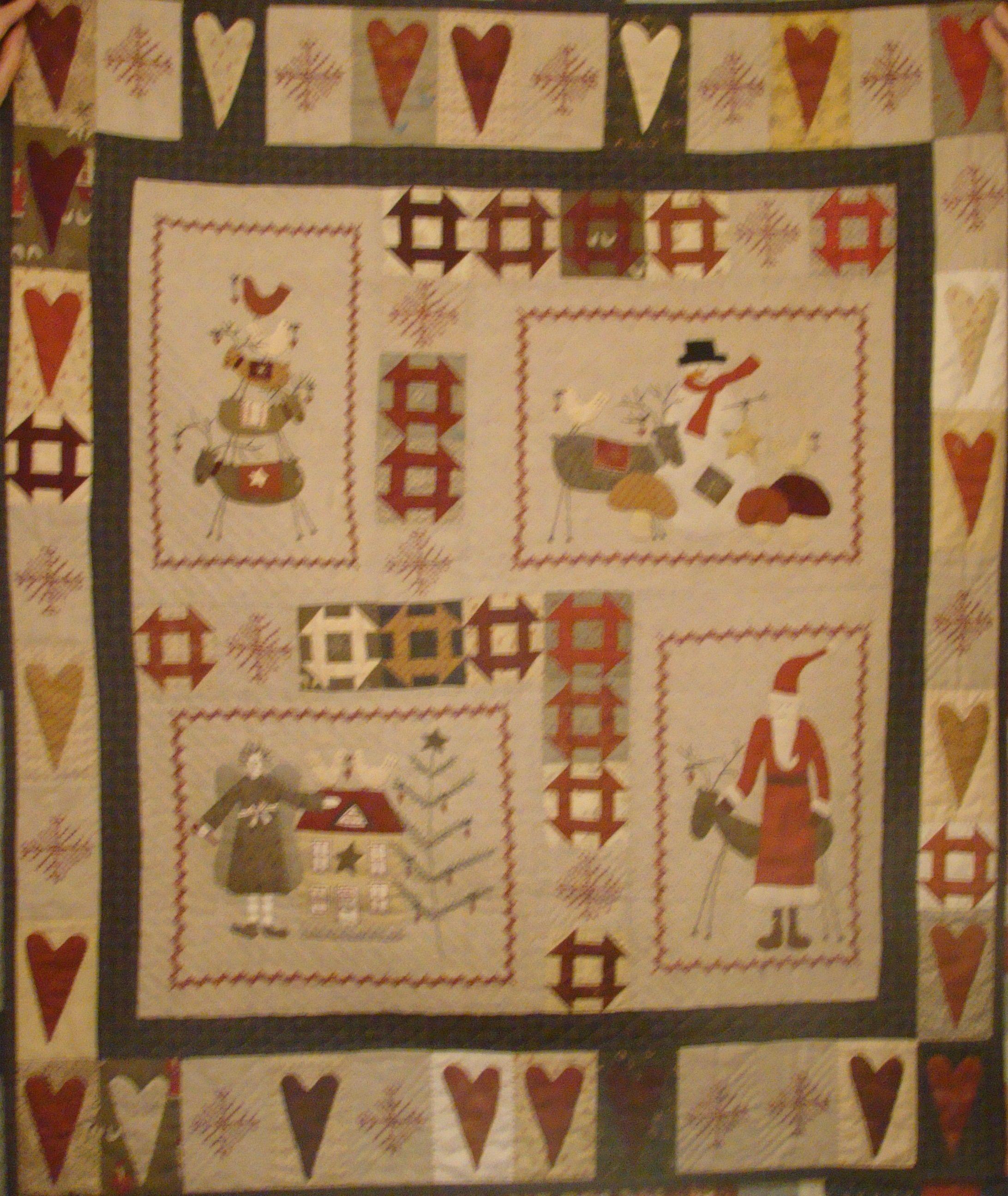 Kerst Quilt Patronen.Kerstquilt Naar Een Patroon Van Lynette Anderson Kerst
