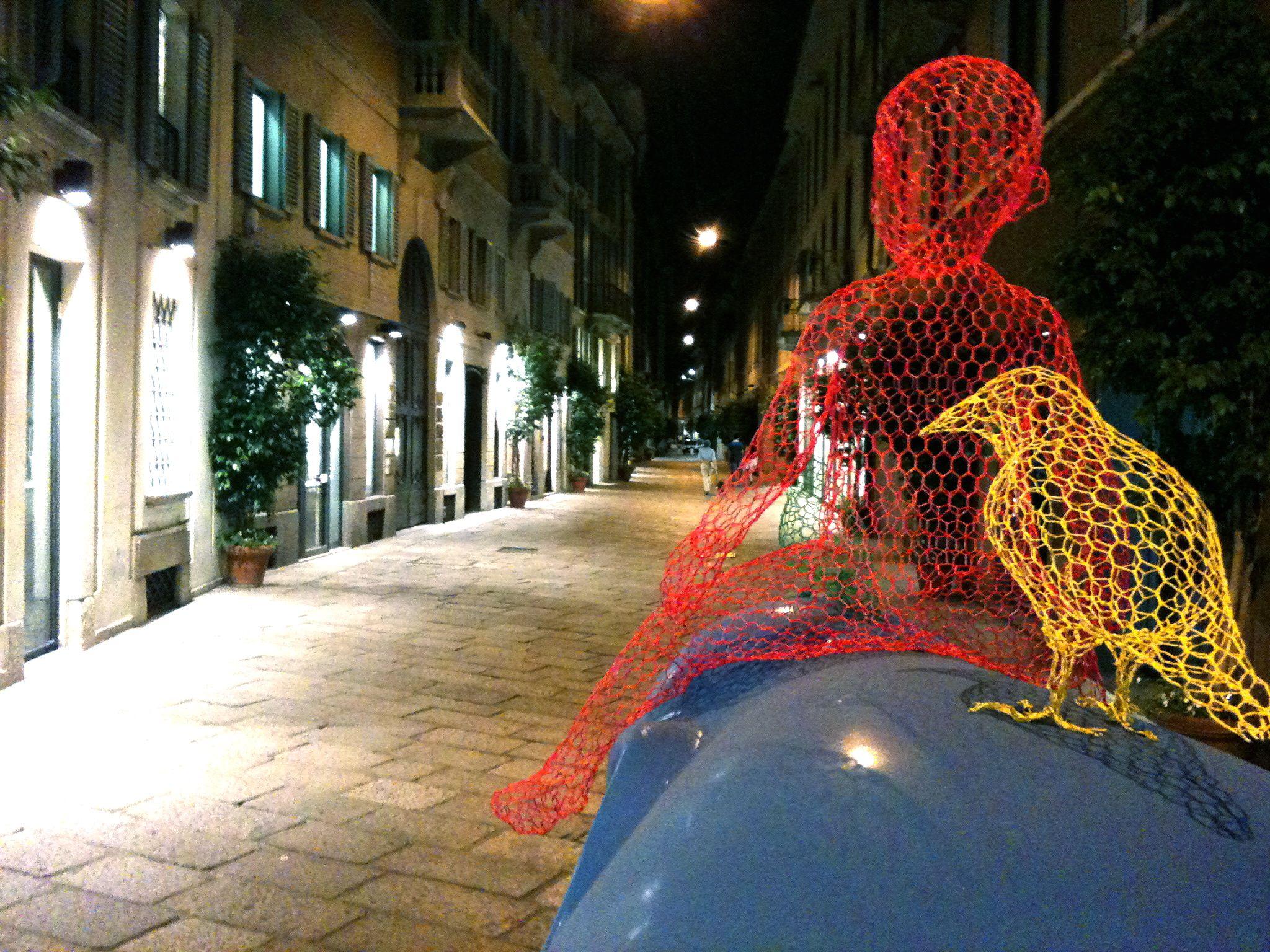 Esculturas de malla de gallinero de Benedetta Mori Ubaldini ...