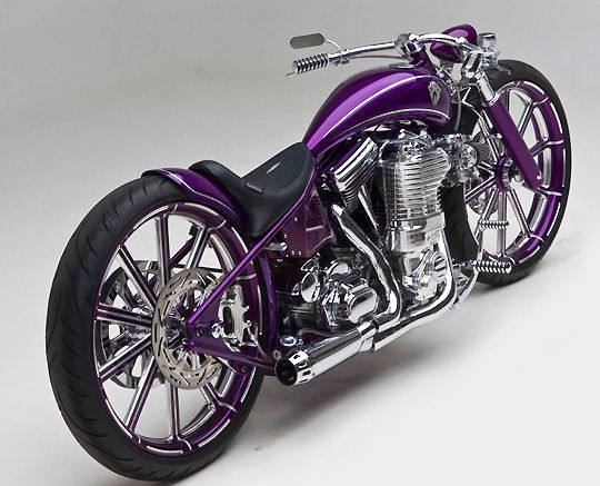 Digger Bike by Arlen Ness - HEY! My bike is purple - but this one is cool (although I prob couldn't drive it with the low bars..)