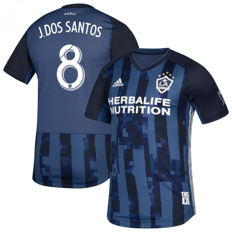 Jonathan dos Santos #8 LA Galaxy adidas AWAY Team Jersey â Navy ...