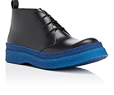 Beautiful Comme des Gar ons Crepe Sole Leather Chukka Boots Boots 505060962 Mens Comme des Gar ons Mens Boots