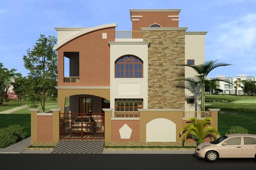 Front Elevation Of Three Storied Houses : Marla double story house saiban properties images