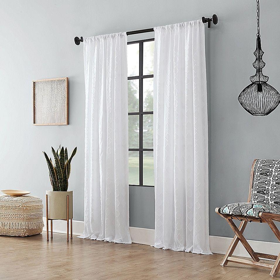 rod pocket semi sheer curtain panel