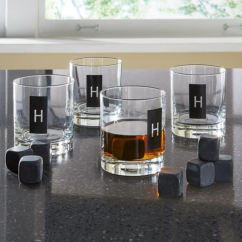 Double Old Fashioned Set + Whiskey Stones Bday gifts for
