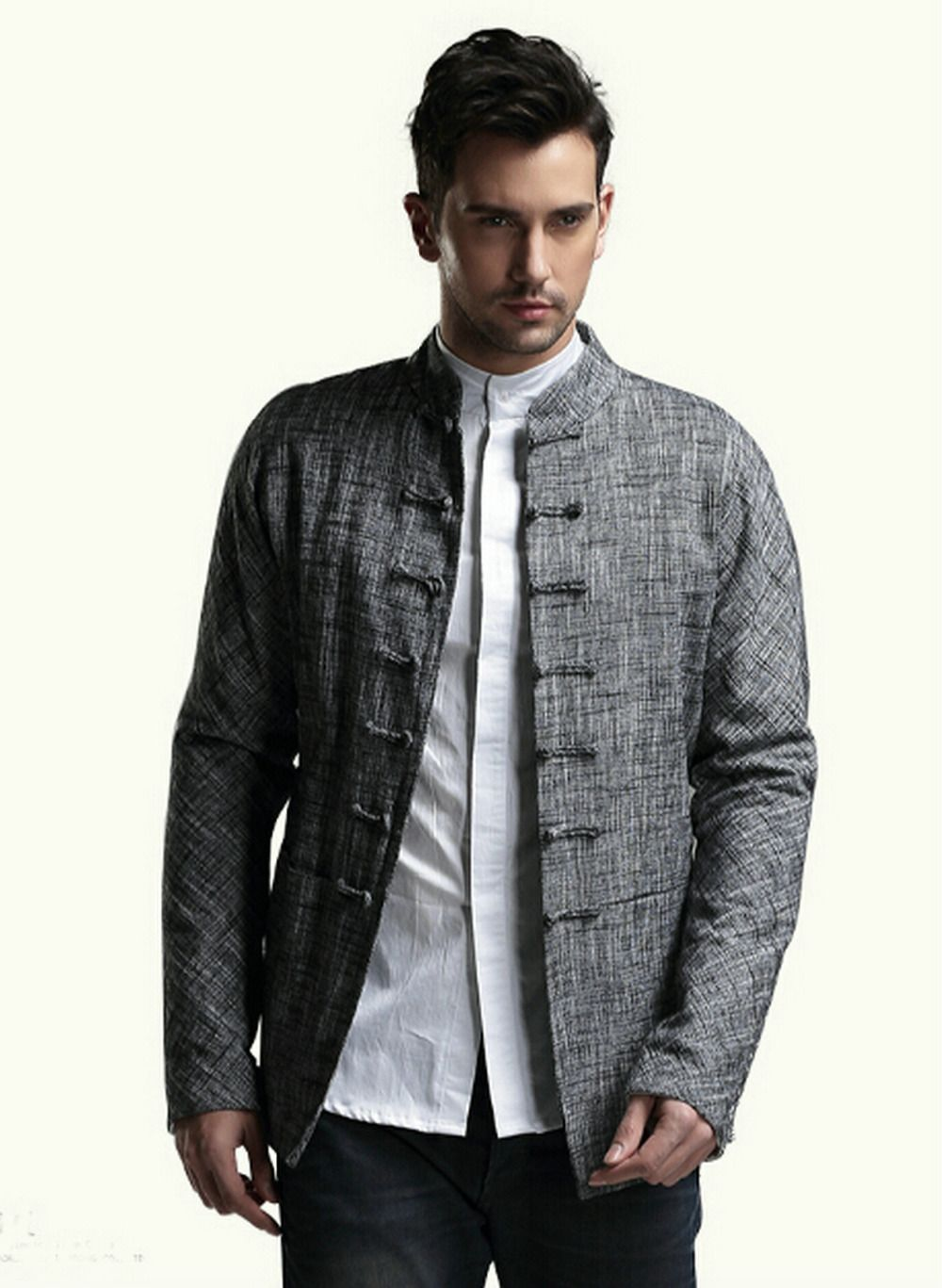 08482712c9 China s wind Tang suit Chinese tunic suit Men s cotton and linen spring coat