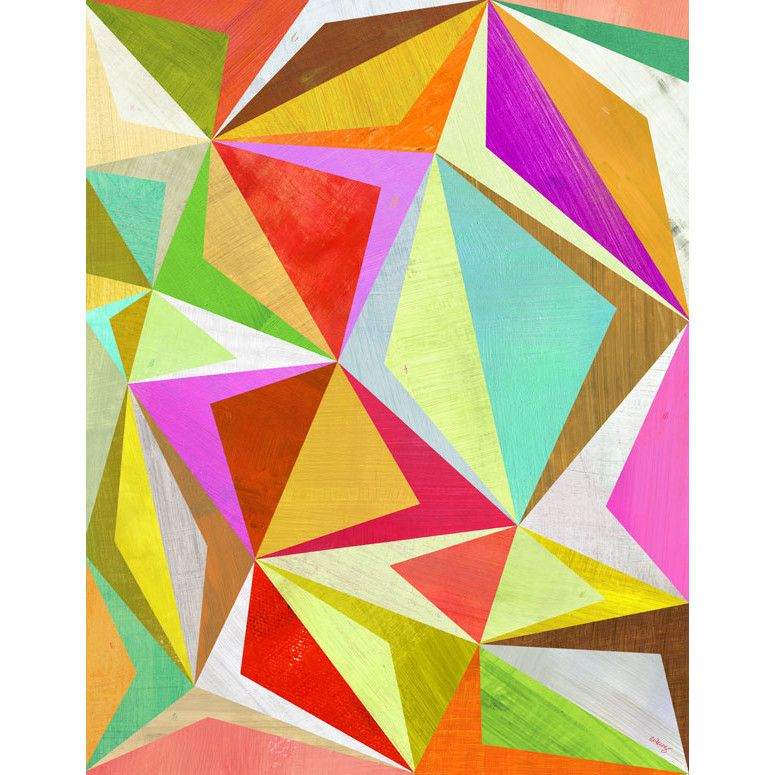 """GreenBox Art """"Dancing Diamond"""" by Melanie Mikecz Graphic Art on Canvas"""
