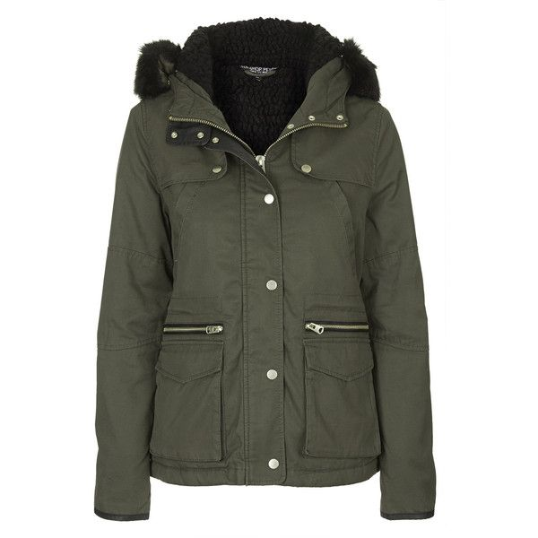 TOPSHOP PETITE Short Padded Parka Jacket (67 AUD) ❤ liked on ...