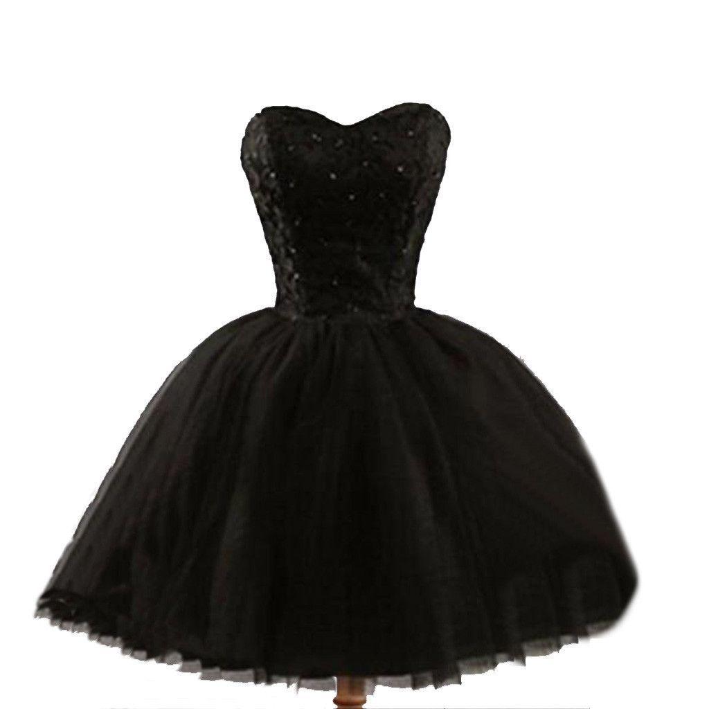 Formal lace little black dress, short homecoming prom dresses ...